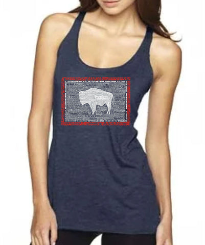 TA010 Wyoming Hometown Tank Vintage Navy