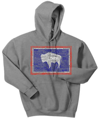 HD020 Wyoming Hometown Hoodie