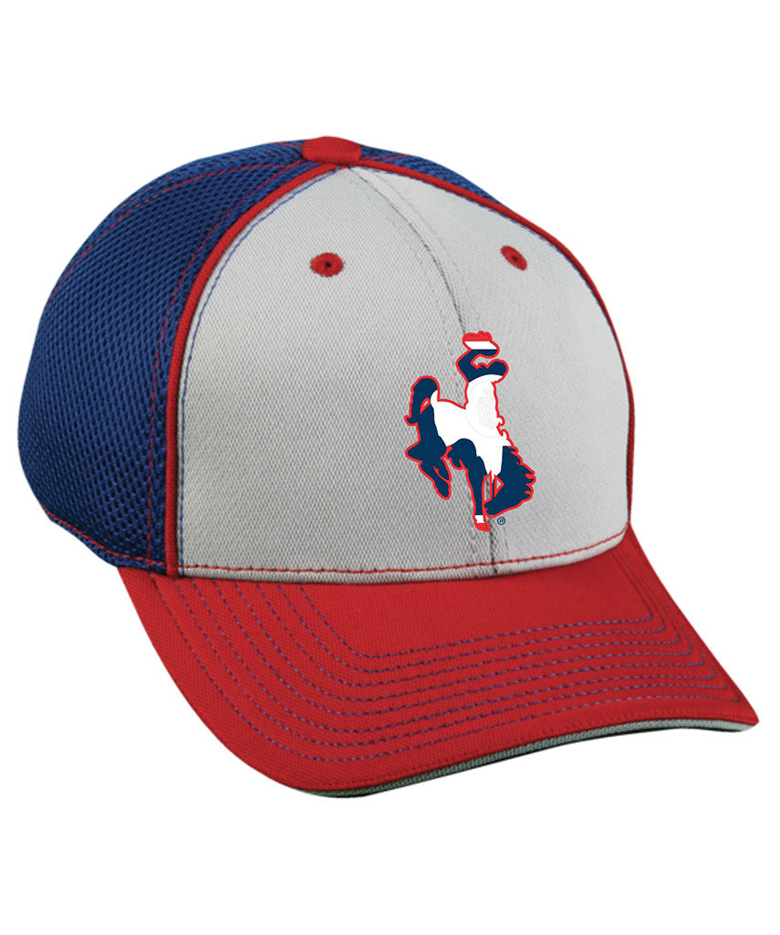 H031 WY State Flag Bucking Horse Hat - Wyoming Pride