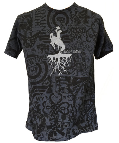 T061 -  Roots on WP Stained T-Shirt (Black)