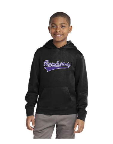 H - Regulators - Sport-Tek® Youth Sport-Wick® CamoHex Fleece Colorblock Hooded Pullover