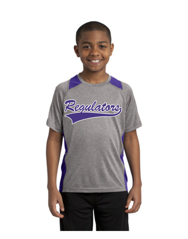 J - Regulators - Sport-Tek® Youth Heather Colorblock Contender™ Tee