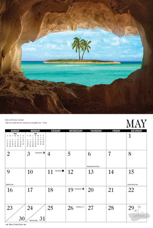 2021 Beaches and Sunsets Calendar