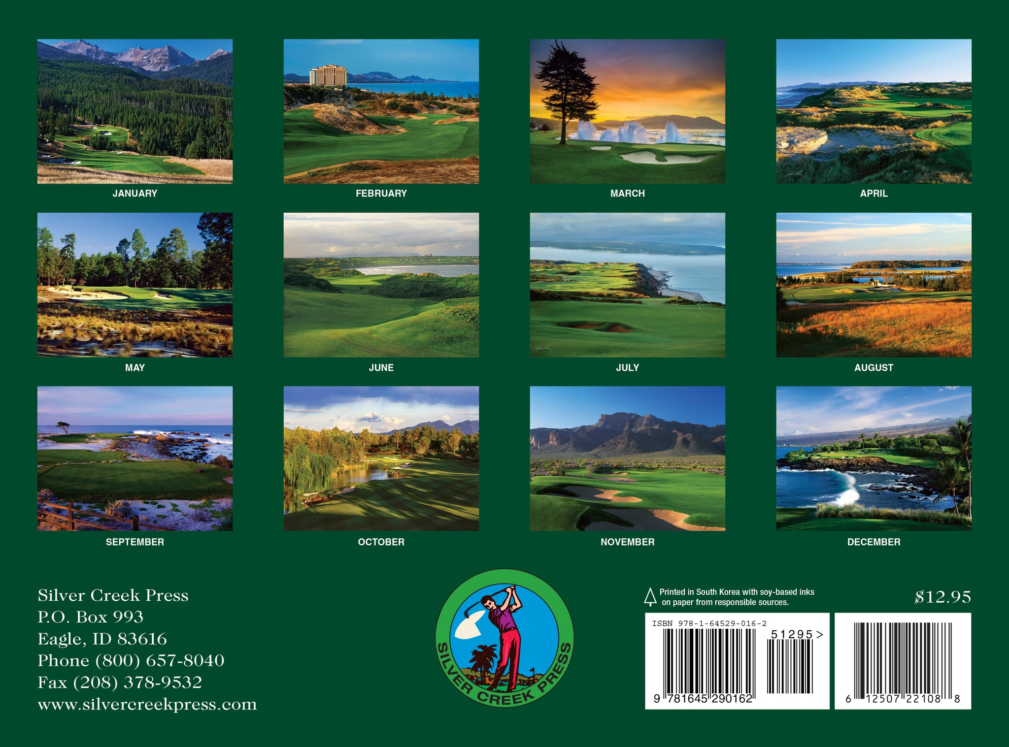 Golf Calendar 2021 Photos