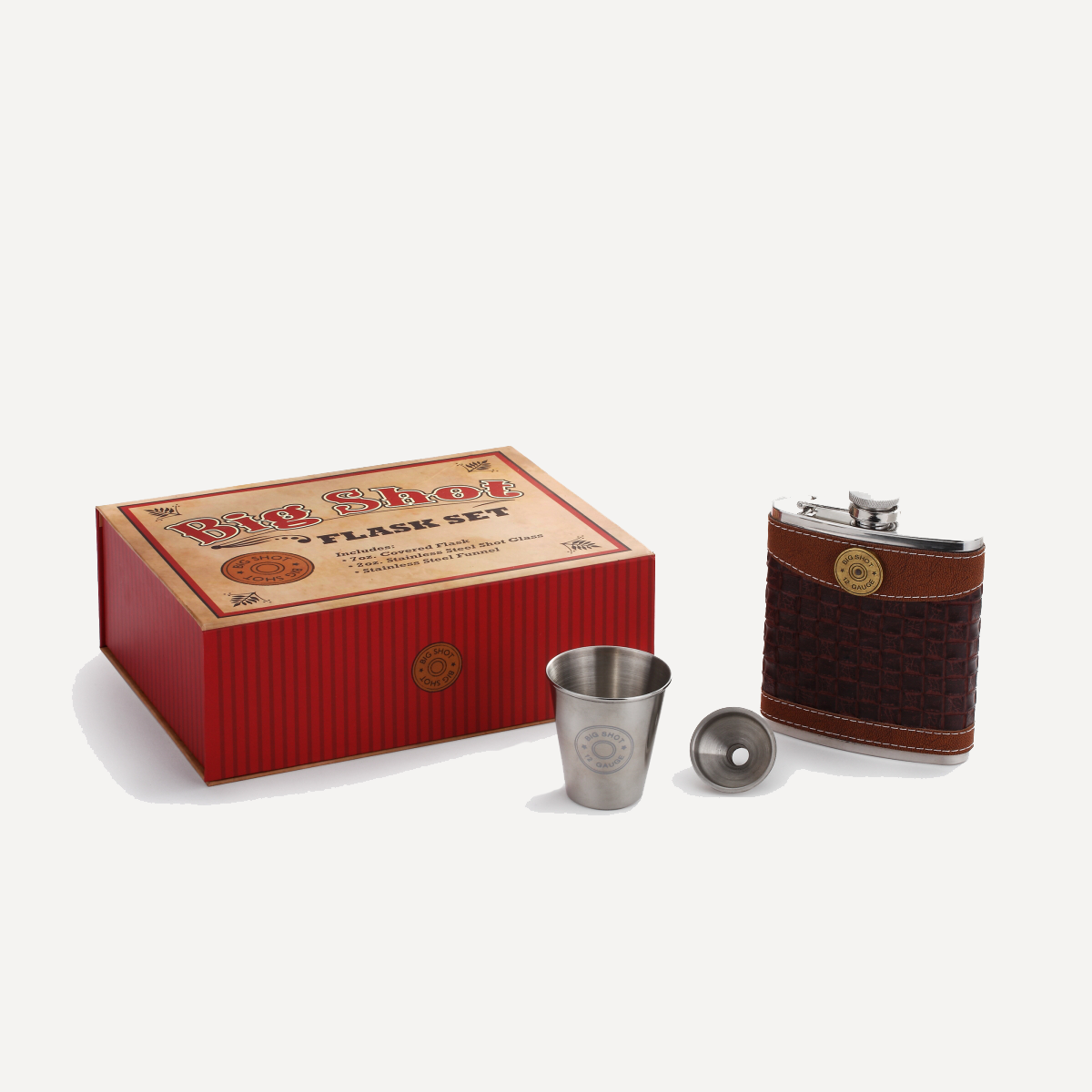Big Shot Flask Gift Set