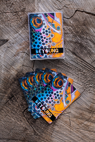Brown Trout Face Playing Cards