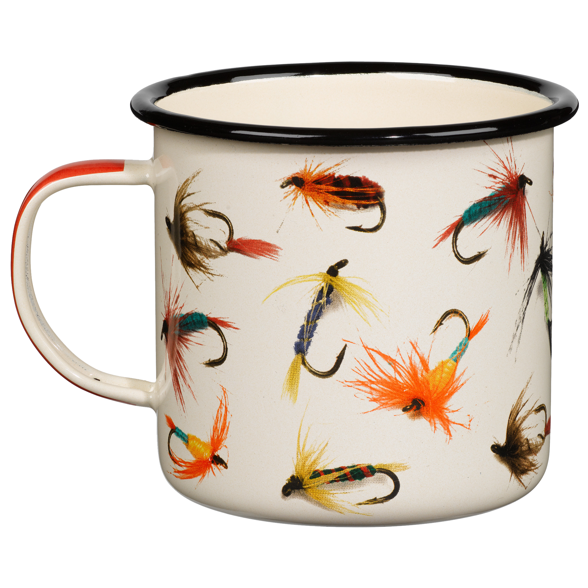 Enamel Mug with Flies
