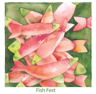 Fish Fest - Christmas Card