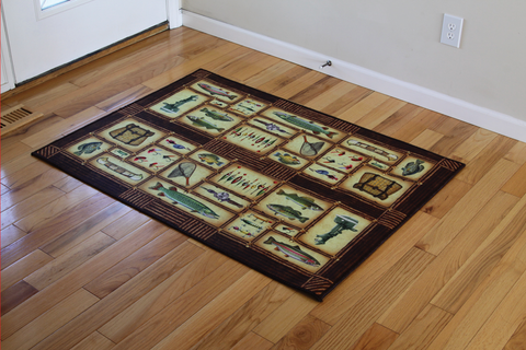Large Indoor/Outdoor Mat: Fish