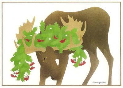Moose Boughs - Christmas Card