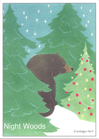Night Woods - Christmas Card