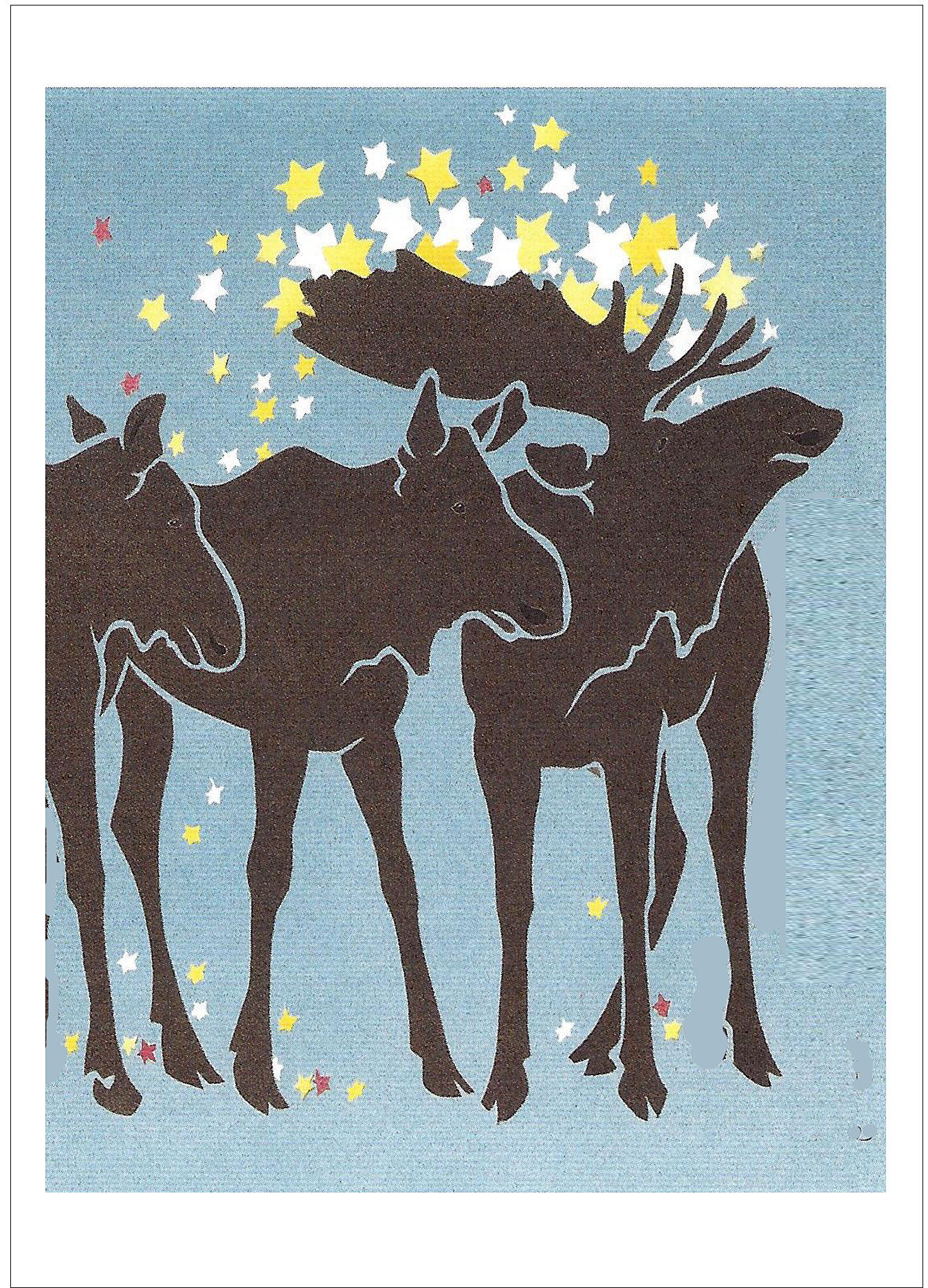 Night Moose -Christmas Card