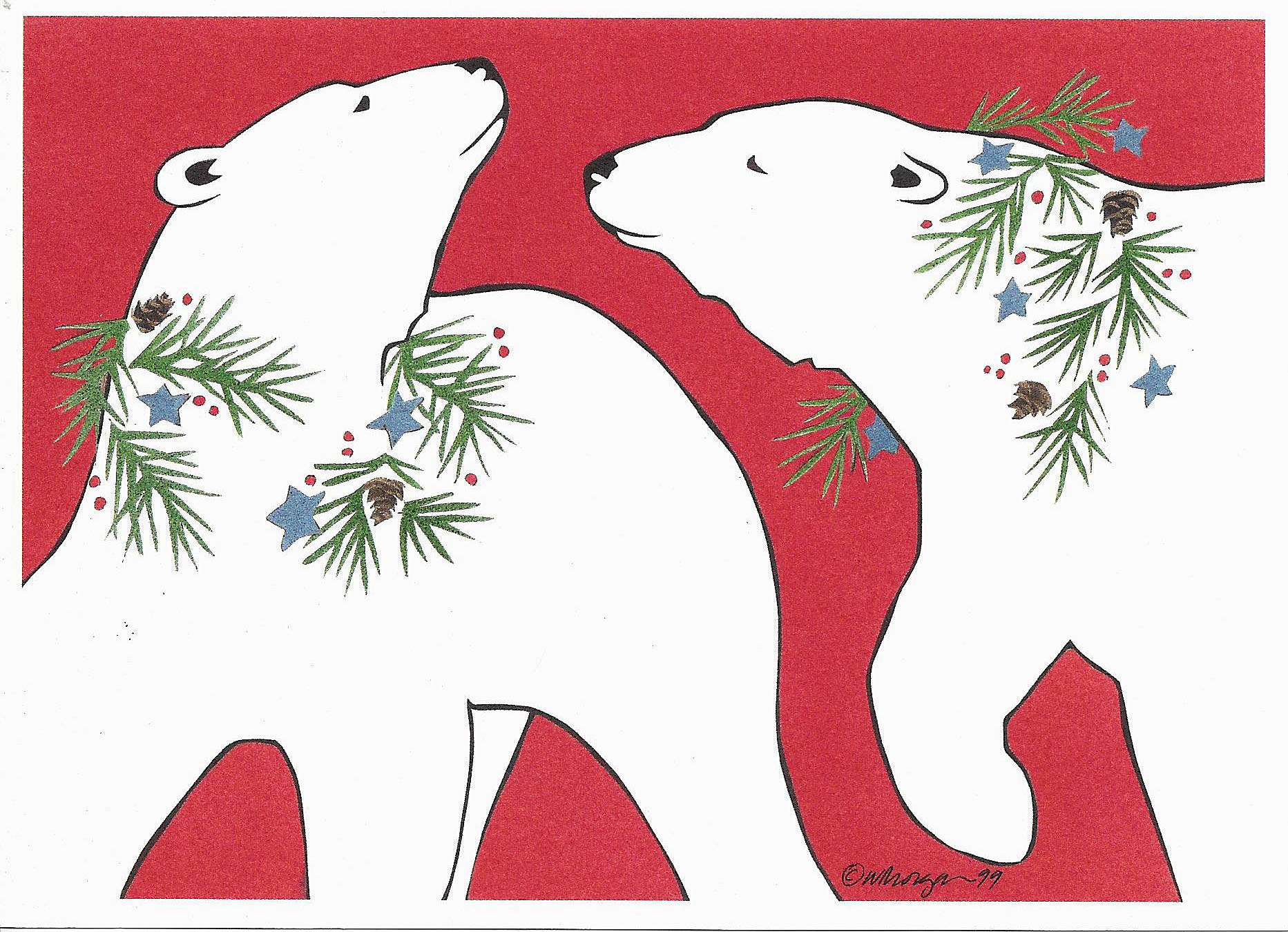 Polar Bears - Christmas Card