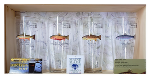 Angler's Pint Glasses- Choose From 4 Different Trout