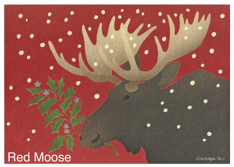 Red Moose - Christmas Card