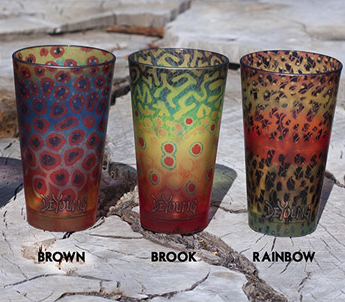 Trout Pattern Pilsner Glasses