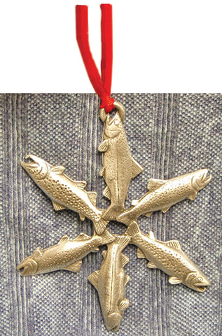 Pewter Trout Ornament