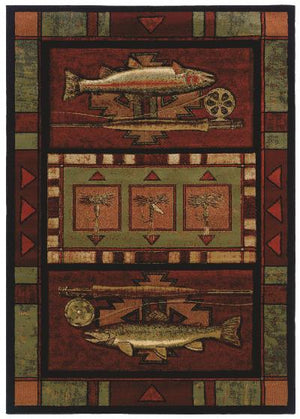 Rainbow Trout Fishing Scatter Rug and Petite Accent Rug