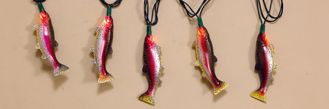 Indoor/Outdoor Decorative Trout Light Set
