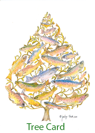 Trout Tree -Christmas Card