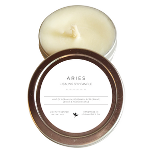 Aries - Handmade Soy Healing Candle