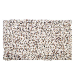 Amala Handmade Wool Felt Pebble Rug - Brown
