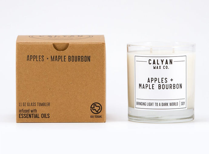 Apples & Maple Bourbon Soy Candle Glass Tumbler
