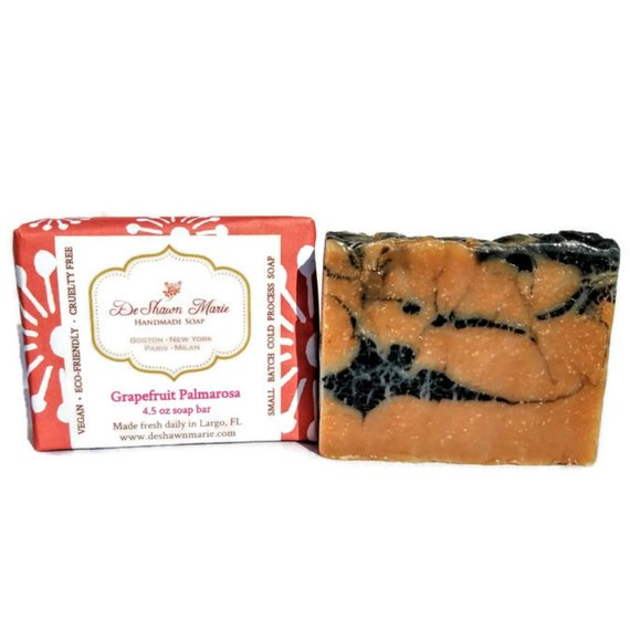 Grapefruit Palmarosa Handmade Vegan Soap