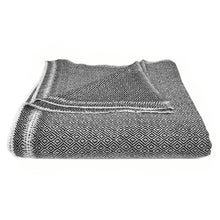 Load image into Gallery viewer, Black Diamond Handloomed Cashmere Throw Blanket