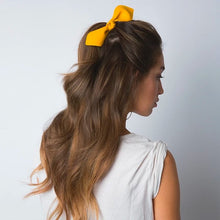 Load image into Gallery viewer, Leather Bow Big Hair Tie