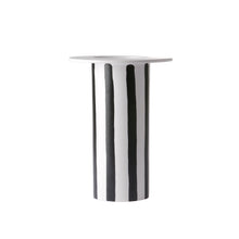 Load image into Gallery viewer, ceramic vase black/white striped ACE6845