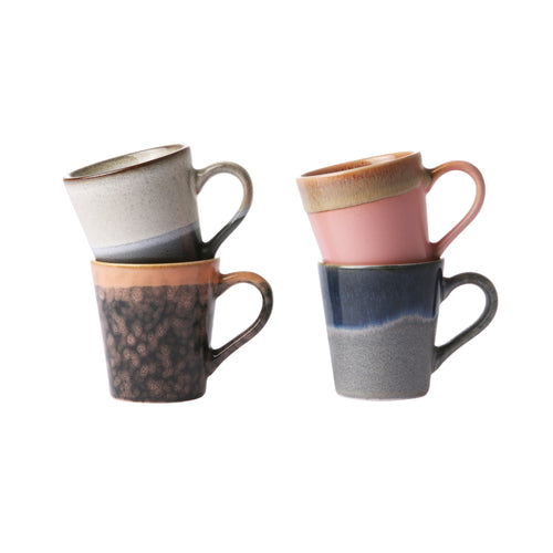 ceramic 70's espresso mugs (set of 4) ACE6867