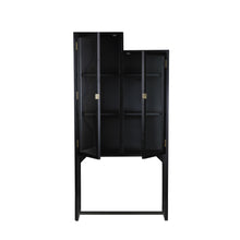 Load image into Gallery viewer, stairs cabinet showcase black wood MKA1939