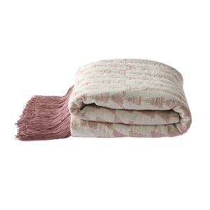 jacquard weave throw white/nude (130x170) TTS1022