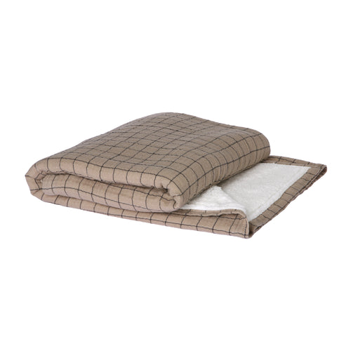 checkered sherpa throw (130x170) TTS1032