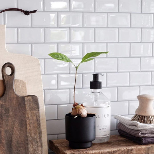 subway white peel and stick backsplash tiles