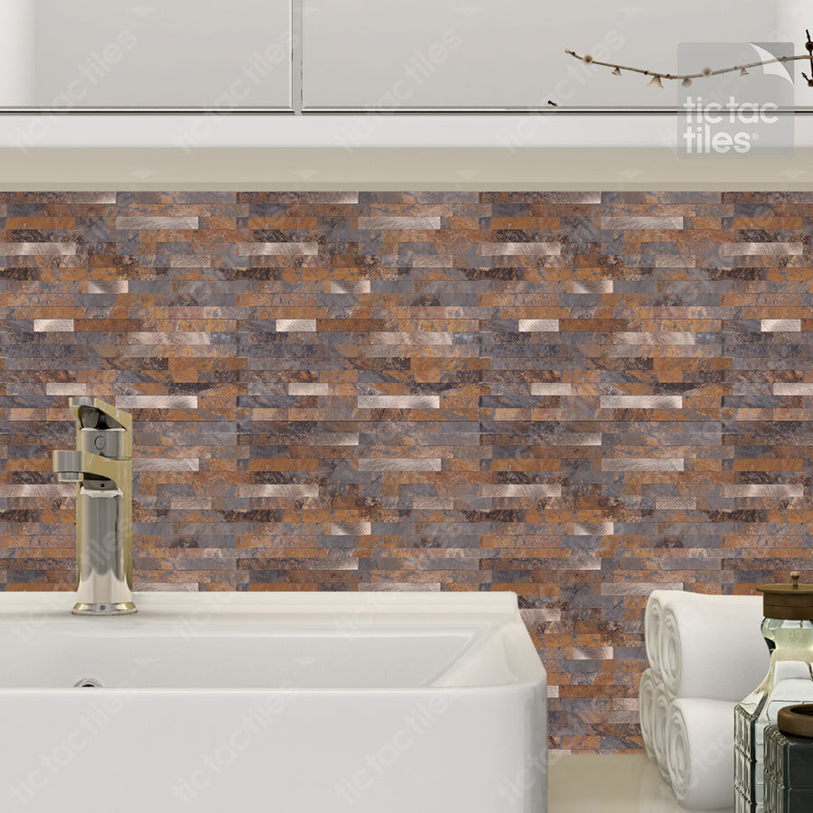Rustic Brown Metallic Tile