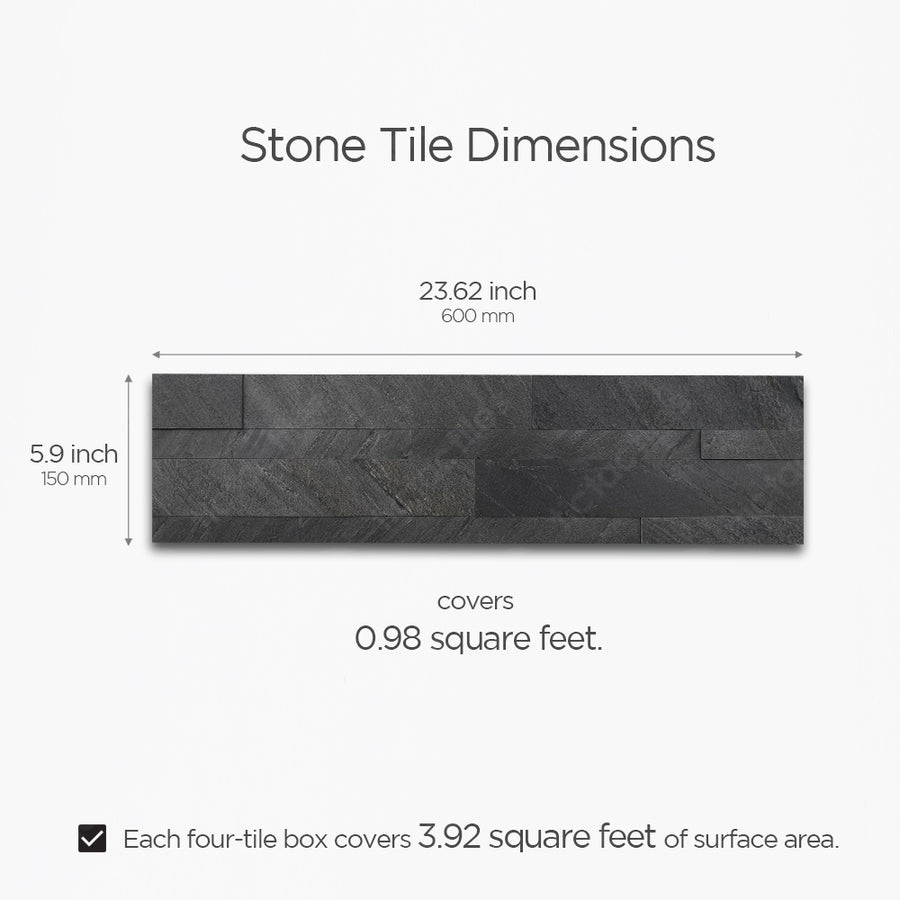 Dark Gray Stone Tile