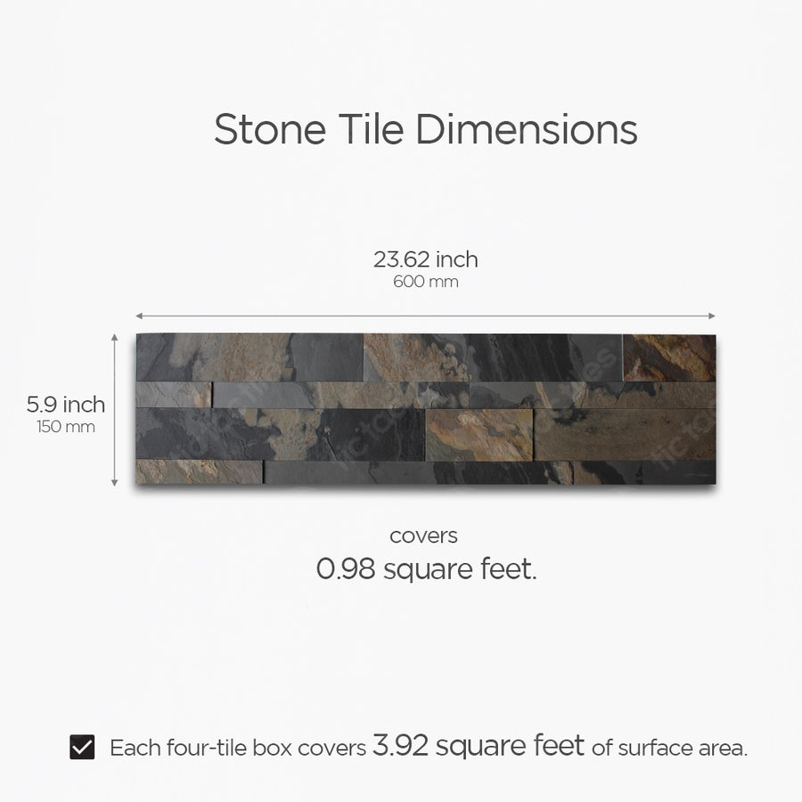 Rustic Gray Stone Tile