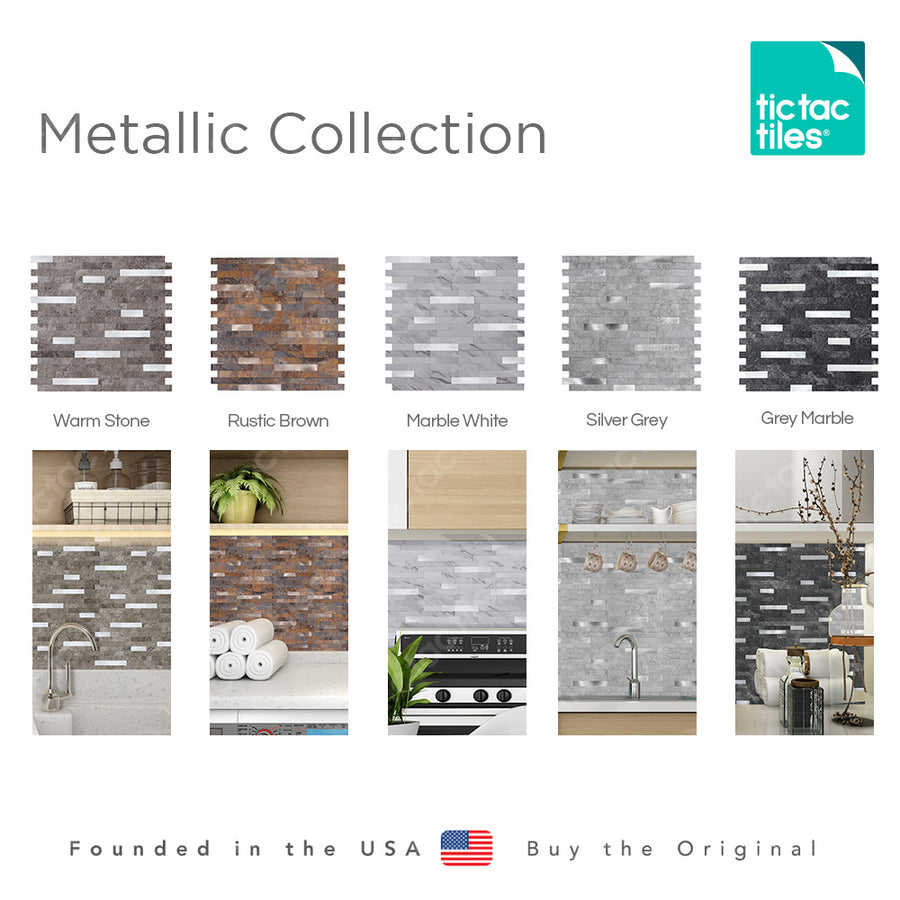 Grey Marble Metallic Tile