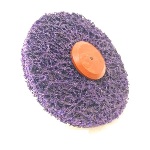 3M Disco XO-ZS perno mm.6  d.disco 100x13 mm colore viola Scotch Brite