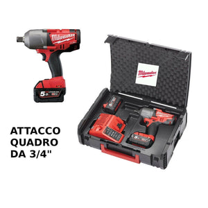 AVVITATORE A BATTERIA MILWAKEE M18 ONEFHIW-502X attacco 3/4