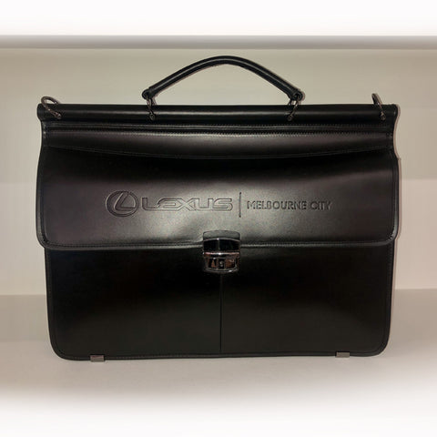 Lexus Business Leather Briefcase - BLACK