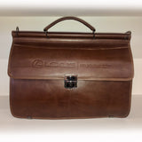 Lexus Business Leather Briefcase - OCHRE
