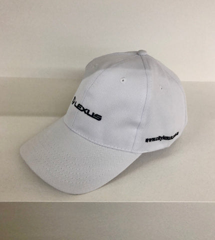Premium Light weight Lexus cap - White on Black