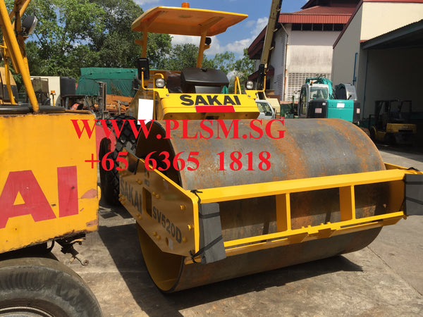 SAKAI SV520D 10 TON VIBRATORY ROAD ROLLER FOR RENT IN SINGAPORE