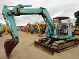 S02.  KOBELCO HYDRAULIC EXCAVATOR SK75UR-3 YR04-04816 OFFSET BOOM WITH HEIGHT AND DEPTH LIMITER FROM JAPAN FOR SALE IN SINGAPORE