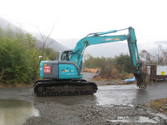S03.  KOBELCO, SK135SR-1E, YY03-05300 UP, 2004YR, LOAD INDICATOR (ARMCRANE), RUBBER PADS IN SINGAPORE FOR SALE