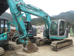 S03.  KOBELCO, SK135SR-1E, YY03-05600up, 2004YR, ARMCRANE, HYDRAULIC PIPING, RUBBER PADS IN SINGAPORE FOR SALE