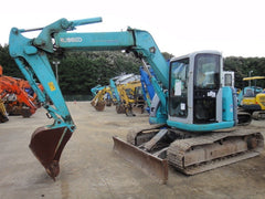 S02.  KOBELCO HYDRAULIC EXCAVATOR SK75UR-3 YR04-05109 OFFSET BOOM WITH HEIGHT AND DEPTH LIMITER FROM JAPAN FOR SALE IN SINGAPORE